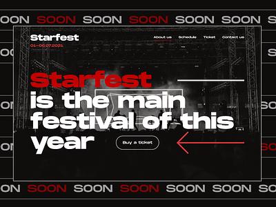 Music festival website interface website typography festival brutalism brutal ui