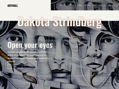 Art gallery Website web site web design gallery art free design typography figma ui