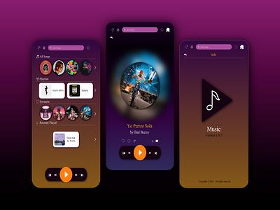 MUSIC APP music app music mobile app ux ui design