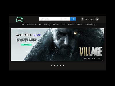 Game Shop web design web games ux ui design game