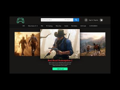 Game Shop game games web ux ui design