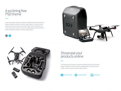 Drone Website light skin clean nam hcm website drone