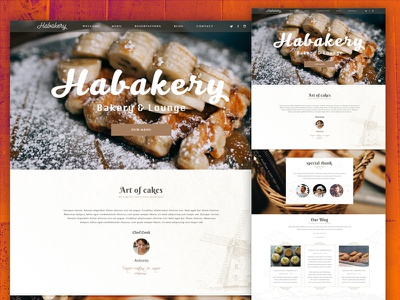 Habakery website bakery clean nam hcm website