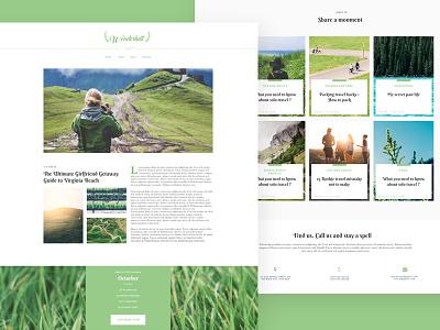 Wonderlust Template travel blog light skin clean nam hcm website