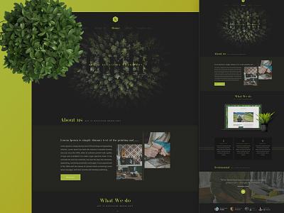 #New UI 01 new ui dark green website clean nam hcm