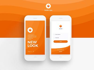 #New UI 03 Buber App sign in login mobile new ui orange app clean nam hcm