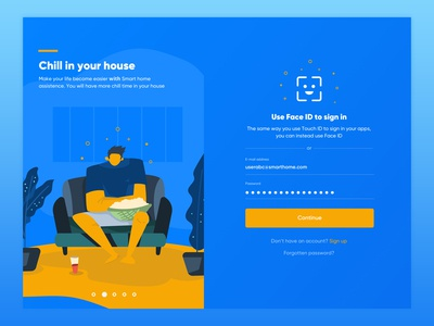 #New UI 06 - Smart Home - Login Screen