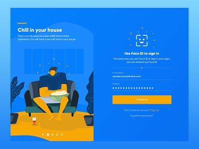 #New UI 06 - Smart Home - Login Screen sign in login hcm nam ui illustration