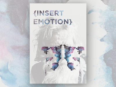 Rorschach in our Mind mock-up idea subconscious thinking psychology experiences age inkblot rorschach emotion design poster