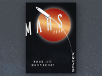 Mars 2030 Travel Poster Concept
