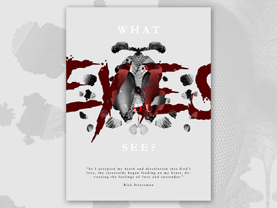 Rorschach Subconscious 2.0 emotion death photoshop bug insect eyes poster typography manipulation ink inkblot rorschach