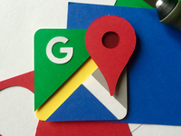 Paper Google Map Icon