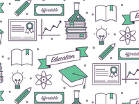 Education Icons Pattern