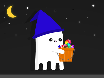 Trick-or-Treating trick-or-treat night kawaii candy halloween ghost