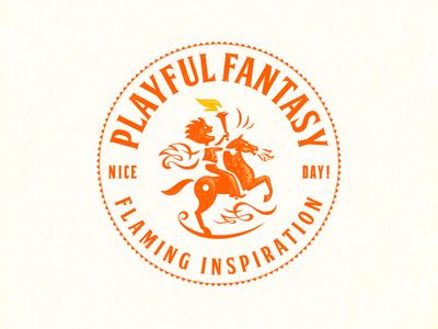 PLAYFUL FANTASY inspiration flame fantasy child symbol