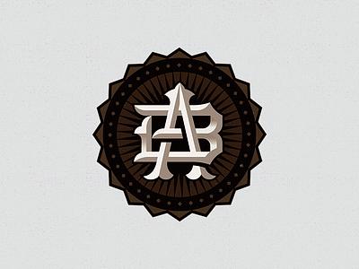 AB monogram branding cowboy design western monogram
