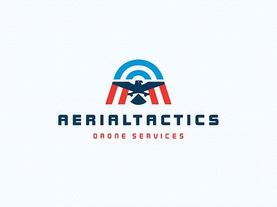 AERIALTACTICS symbol brand design tactics drone aircraft air bird aerial logo