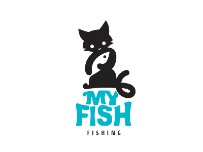 My Fish thanks fish cat animal logo