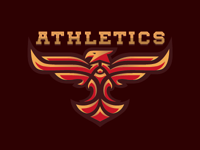 Athletics fiery fitness sport athletics logo