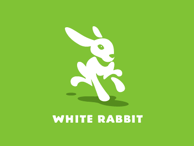 White Rabbit fund child charity rabbit animal logo