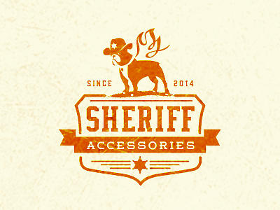 Sheriff retro accessories dog animal logo