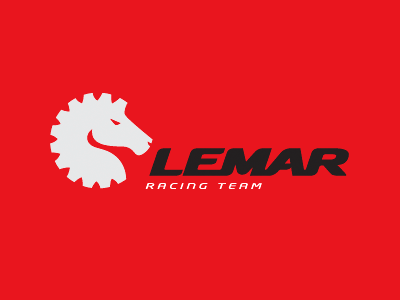 Lemar sport animal horse racing logo