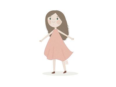 Милый персонаж, Девчушка Белла в векторе книжная иллюстрация детская вектор векторні зображення векторная графика детскаяиллюстрация детский девочка арт typography minimal vector design illustration