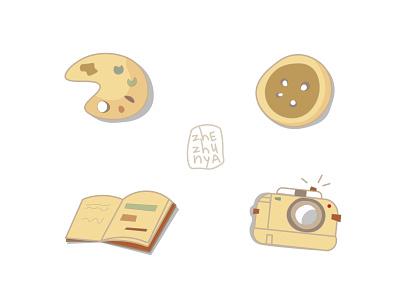 Иконки для творческих диджитал иконки minimal branding векторні зображення векторная графика арт vector illustration design