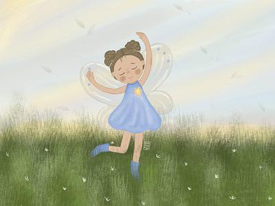 Фея детский детская девочка книжная иллюстрация детскаяиллюстрация typography арт illustration фотошоп
