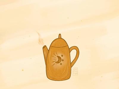 Чайничек branding minimal детская книжная иллюстрация детскаяиллюстрация typography арт illustration стиль чай