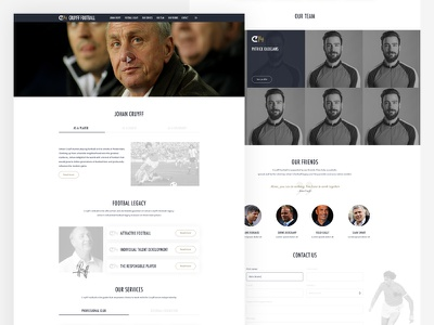 Cruyff Football soccer web ux design ui design football johan cruyff