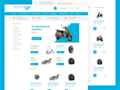 Scooters web store  ux design ui design store shop e-commerce webshop motor scooter magento