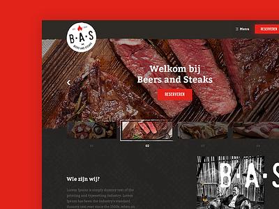 Steakhouse homepage butcher meat webdesign fresh vintage clean homepage steakhouse