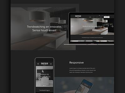 Sensa Case clean design case webdesign ux ui fresh black