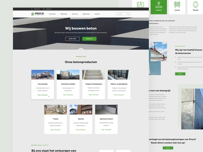 PRECO - Website concrete sketch app website sketch homepage logo ux design ui design design black ux ui fresh webdesign clean