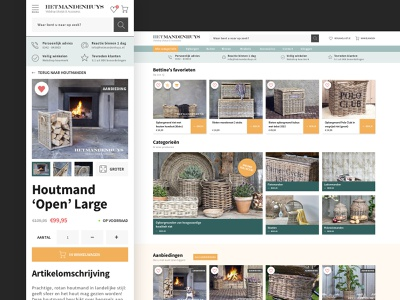 Het Mandenhuys conversion woocommerce webshop e-commerce ux design ui design design black ux ui webdesign fresh clean