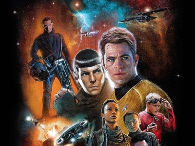 Illustrated Star Trek Into Darkness Poster