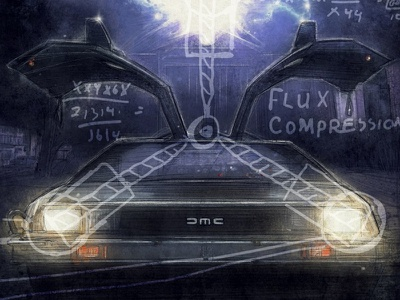 Time Machine Variant illustration gallery back to the future delorean hill valley time machine preview variant flux capacitor