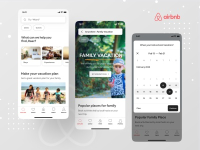 Airbnb New Feature : Family Vacation Plan with Kids cx design ux design branding dribbble best shot dribbble mobile app case study problem solving ofspace airbnb and ofspace booking vacation airbnb design airbnb