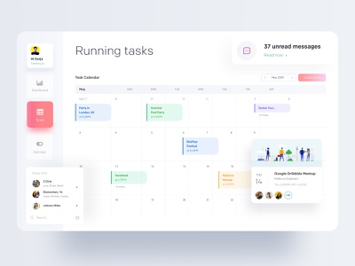 Task Management: Often Meeting branding gradient ux dribbble best shot task management ofspace agency ofspace dribbble dashboard app dashboard ui dashboard calendar design calendar 2019 calendar app calendar ui calendar task