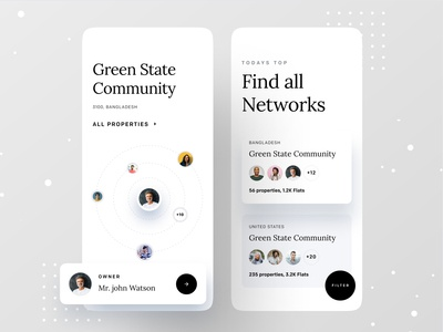 Real Estate Network app design dribbble best shot ofspace agency dribbble invite ofspace house owner agente estate agent community manager community college community logo community real estate agent real estate branding real estate agency real estate logo real estate