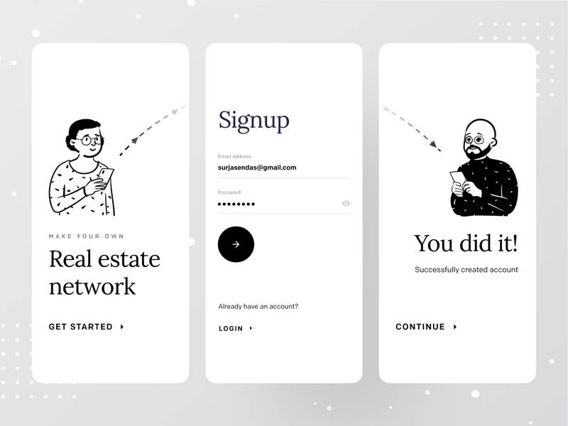 Real Estate Network dribbble best shot dribbble ofspace agency ofpace login onboarding ui onboarding onboard signup realestateagent realestate logo real estate branding real estate agency real estate agent realestate real estate logo real estate