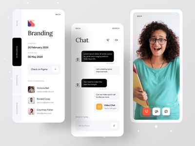 Better Way To Manage Your Work minimal app creative design gradient dribbble best shot branding and identity dribbble ofspace agency ofspace branding agency branding design video chat project management tool project management project branding
