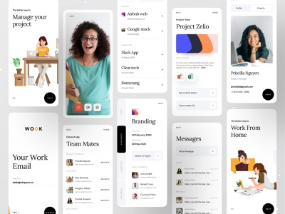 Work From Home | Better Way To Manage Your Work airbnb google trello asana minimal app messages app design brand identity branding design branding dribbble dribbble best shot ofspace agency ofspace ios app video call project management tool project management workfromhome work from home