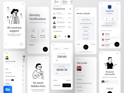 Case Study : A Better Way to Handle Your Money dribbble ofspace agency ofspace dribbble best shot finance app financial finance minimal app transfer money money transfer wallet ui bank app banking app fintech app fintech wallet app airtm phonepe paytm paypal