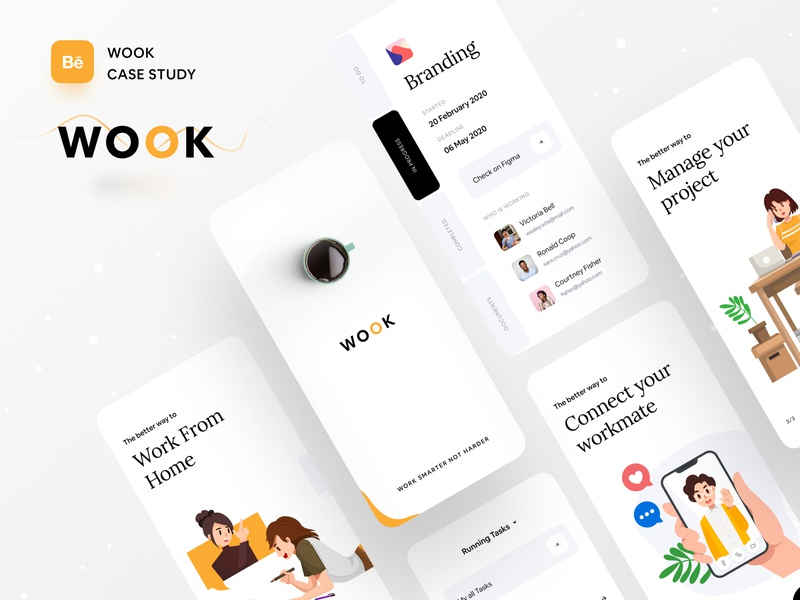 Case Study | Better Way To Manage Your Work illustration typography creative project management dribbble best shot dribbble ofspace agency ofspace brand identity branding design branding minimal app dashboard project managment project management tool money app case study