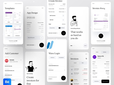 Wave | Invoicing and Money Management wave paypal paytm transferwise money management money transfer money app payment app pay payment design dribbble ofspace agency ofspace dribbble best shot app design invoice template invoices invoice design invoice