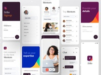 Zelio | Mentorship App brand design brand branding concept branding agency branding design branding clean design minimal app ios design ios apps ios app app design app mentorship mentors mentor dribbble ofspace agency ofspace zelio