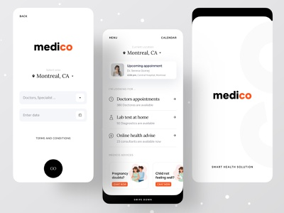 Medico V2 surja sen das raj health health care health app dribbble best shot dribbble app design agency app design icon ui web ios guide app design ofspace agency ofspace branding agency brand identity brann branding design branding medical medical logo medical design medical app