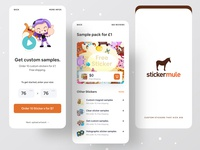Stickermule App branding design branding creative app development company ecommerce sticker market sticker app surja sen das raj dribbble best shot dribbble ofspace agency ofspace app design app designers app designer stickers sticker sticker design sticker mule stickermule